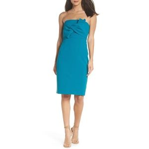 Chelsea28 Strapless Bow Front Dress (Petite)